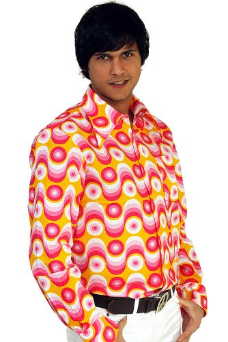 kali gesch ft 70er jahre party hemd waves pink m discount. Black Bedroom Furniture Sets. Home Design Ideas