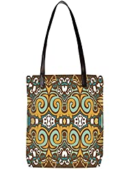 Snoogg Abstract Pattern Multicolor Design Womens Digitally Printed Utility Tote Bag Handbag Made Of Poly Canvas...