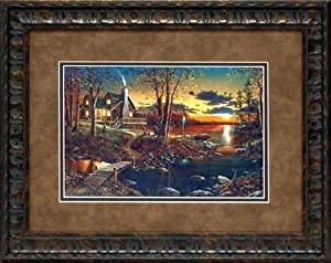 Comforts of Home framed print by Jim Hansel 16x20 lake landscape