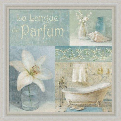 Parfum I By Danhui Nai Blue Bath Room Bathroom Wall Art Print Framed Décor front-648729