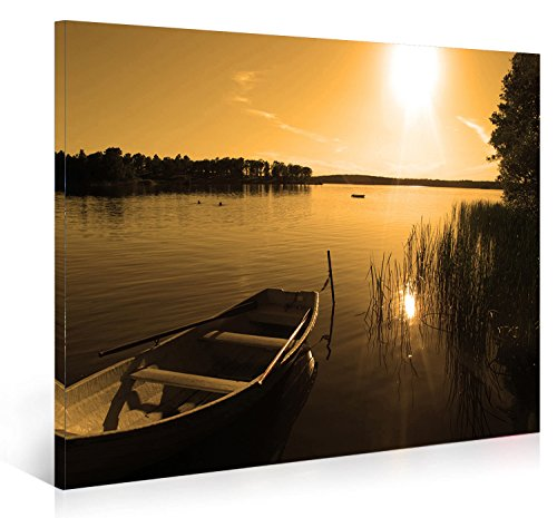 Nuolanart-P1L4060-002-Sunset Over Peace Lake-Framed Canvas Wall Art ...