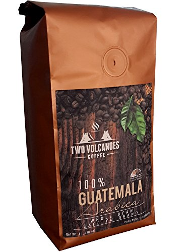 Two Volcanoes Coffee - Gourmet Guatemala Whole Bean Medium Roast Single-Origin Coffee. 1 lb (Whole Bean Guatemala Coffee compare prices)
