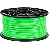 NuNus 3D Printer PLA Filament 3,00mm 1KG Spool - glow in the dark (green)