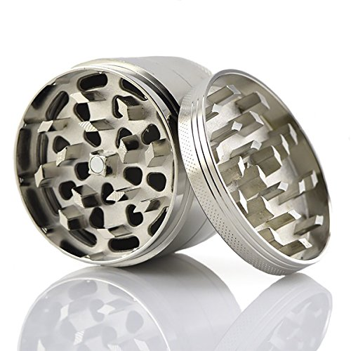 Simply-Grinding-Large-Grinder-for-Tobacco-Herbs-Weed-Spices-25-Inch-4-Piece-with-Pollen-Catcher-Metal-Screen-Premium-Grade-Zinc-100-Guarantee