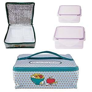 sac lunch isotherme juste 2 boites box de conservation pour repas bureau pique nique dlp. Black Bedroom Furniture Sets. Home Design Ideas