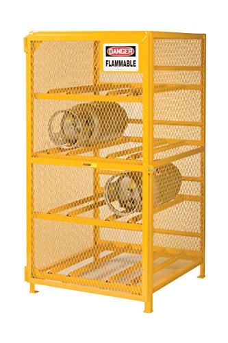 Little Giant GSH-36W-40H Yellow Gas Cylinder Storage Unit, 36