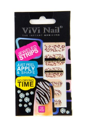 ViVi Nail ヴィヴィ ネイルシール 貼るだけ jeweled strips NS014ー608