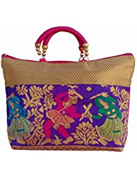 Ladies Fancy Purse Multi Canvas Tote Bag By ALIVE