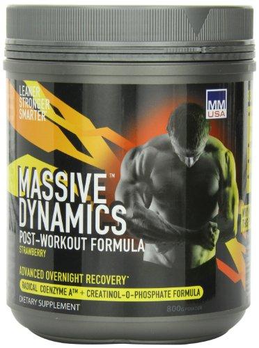 MMUSA  Massive Dynamics Post-Workout Diet Supplement Powder, Strawberry, 800 Gram