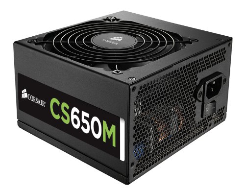 Corsair CS Series, CS650M, 650 Watt (650W), Semi Modular Power Supply, 80+ Gold Certified (650w Psu Modular compare prices)