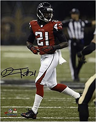"Desmond Trufant Atlanta Falcons Autographed 8"" x 10"" Red Uniform Presnap Photograph - Fanatics Authentic Certified"