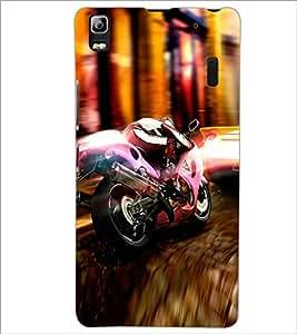 PrintDhaba Bike D-2976 Back Case Cover for LENOVO A7000 (Multi-Coloured)