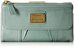 Fossil Emory Zip Wallet, Sea Glass, One Size
