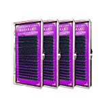 NAGARAKU C 0.15 mm Faux mink Eyelash Extensions 8mm, 10mm, 12mm, 14mm 4 Trays Single Lashes ( 4 cases / set)