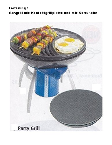TRANSPORTABLER – PARTY – GAS – GRILL + KONTAKTGRILLPLATTE + GASKARTUSCHE – VERTRIEB durch – Holly ® Produkte STABIELO ® – holly-sunshade ® – patentierte Innovationen im Bereich mobiler universeller Sonnenschutz – Made in Germany – günstig bestellen