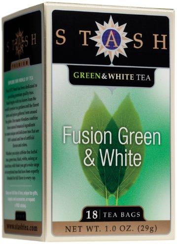 Stash Premium Fusion Green & White Tea, Tea Bags, 18-Count Boxes (Pack of 6)