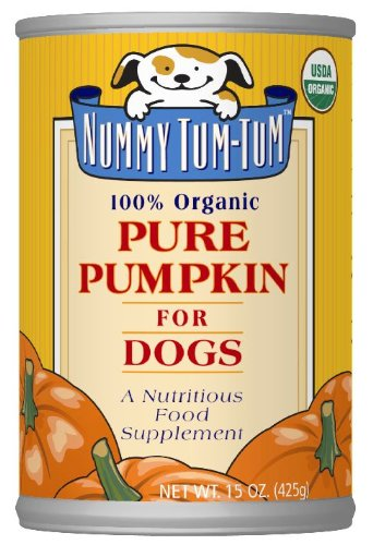 Nummy Tum Tum Pure Pumpkin For Dogs, 15-Ounce Cans (Pack of 12)