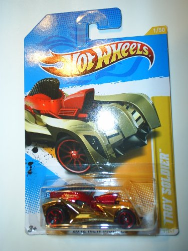 Hot Wheels 2012 New Models #1/50 Gold Chrome & Red TROY SOLDIER #1/247 Collectible Car