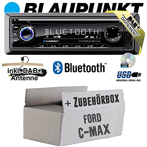 Ford C-Max - BLAUPUNKT Stockholm 230 DAB - DAB+/CD/MP3/USB Autoradio inkl. Bluetooth - Einbauset