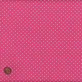 """Pink mini Polka Dot (Dot) French Fabric Cotton 140CM / 55"""" Wide. Per Half Metre"""