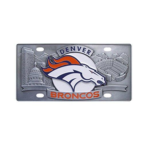 Denver Broncos Metal Car License Plate Design Custom Car Tag Halloween Gift (Customs Halloween Make)