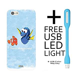 Hamee Disney Pixar Finding Dory Licensed Hard Back Case Cover For LeEco LeTV 1S Cover with Free LED Light - Combo 14