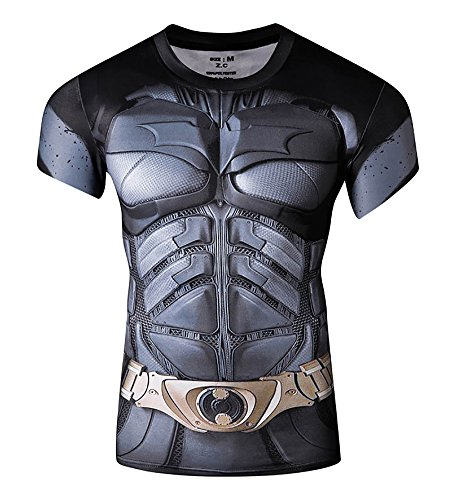 2016 Marvel Comics Mens Compression T shirt - 8 Superhero Designs - S to XXL
