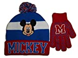 Disney Mickey Mouse Beanie Knit Hat and Glove Set