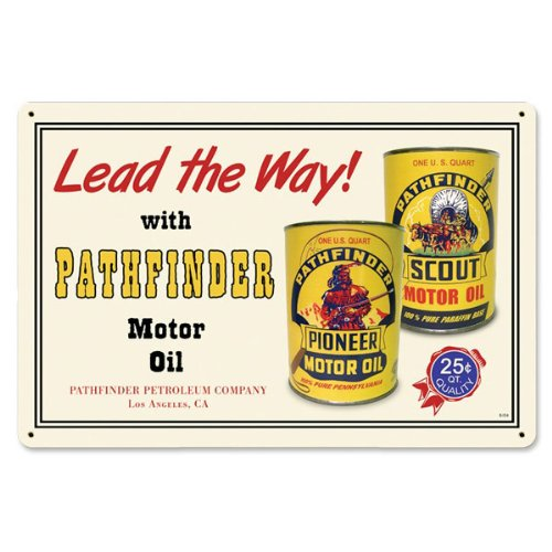 Pathfinder Pioneer Motor Oil Sign