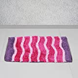 Story @ Home Purple Cotton Diana 1 Piece Doormat/Bathmat