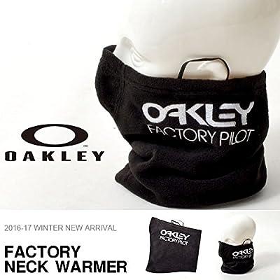OAKLEY(オークリー) ネックウォーマー メンズ レディース FACTORY NECK WARMER フリース 防寒 ロゴ フェイスマスク ネックゲイター Free 01K-Jet Black 911738jp-01K