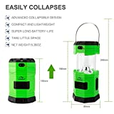 Camping Light Solar Rechargeable Collapsible LED Camping Lantern Flashlight with COMPASS, Portable Water Resistant Outdoor Survival Lamp for Hiking Fishing Hiking Camping Emergency