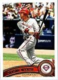 2011 Topps Baseball Card #325 Jayson Werth - Philadelphia Phillies - MLB Trading Card