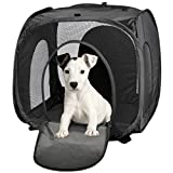 "BDK Portable Port-A-Crate Indoor/Outdoor Pet Home, Premium Quality made of 210D Polyester/PVC (S(18.5"" x 16.93"" x 18.90""))"