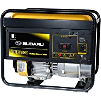 Subaru RGX2900 2900 Watt 6 HP Gasoline Portable Generator - Black