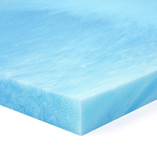 Red Nomad - King Size 2 Inch Thick, Ultra Premium Gel Infused Visco Elastic Memory Foam Mattress Pad Bed Topper - Made in the USA