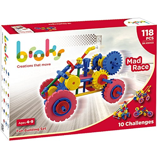 broks-mad-race-juego-de-construccion-con-108-piezas-encajables-incluidos-engranajes-de-alta-calidad-