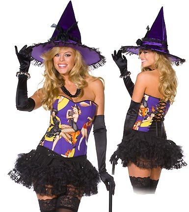 Pin Up Witch - Womens Witch Sexy Halloween Costumes