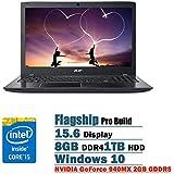 "2017 Acer Aspire E 15 15.6"" Full HD Flagship High Performance Laptop PC, Intel Core I5-6200U Dual-Core, NVIDIA..."