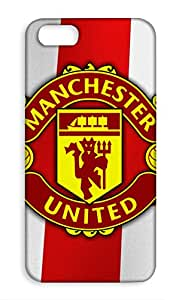 Apple iPhone SE Manchester United Football Club Design Back Cover - Printed Designer Cover - Hard Case - APSECMBMUFC0153