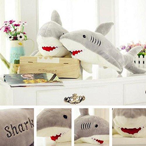 Baby Kids Shark Shaped Plush Doll Animal Bolster Pillow Gift // Bebé niños tiburón muñeco de peluche con forma de animales reforzar almohada regalo