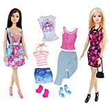 Barbie and Teresa Fashionista Dolls with Extra Clothes