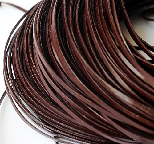 chengyida-10-yards-92-mettergenuine-leather-coffee-flat-cowhide-cord-jewelry-making-3mm-by-chengyida
