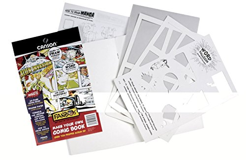 Canson Foundation Series Make Your Own Comic Book Kit, 6.625