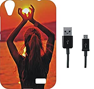 BKDT Marketing Beautifully printed Soft Back cover for Reliance Jio LYF Water 4 With Charging Cable