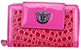 LYDC Designer Croc Leopard Print Purse Clutch Bag Artifical Leather LY21T Bags (Pink)