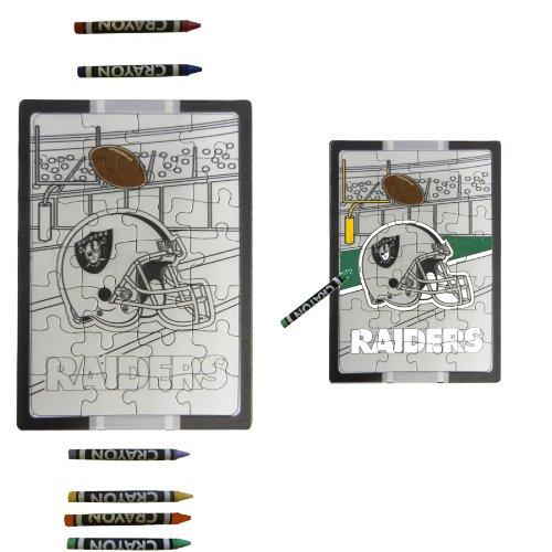 Oakland Raiders Children Fun Color Your Own Puzzle Set