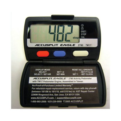 Sportime 025541 Pedometer Accusplit AE2790 Set of 12