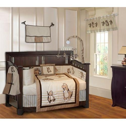 Dinosaur 10 Piece Baby Boys Crib Bedding Set (Including Musical Mobile)