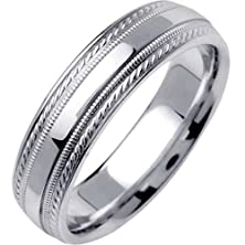 buy Platinum Center Stripe Men'S Wedding Band (6Mm) Size-8.5